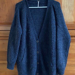 Free People Navy Cardigan